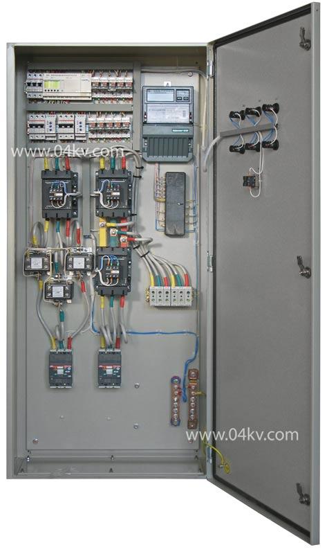 АВР на 160А, два ввода на контакторах с секционированием, на базе контроллера Zelio, комплектующие АВВ, Schneider...