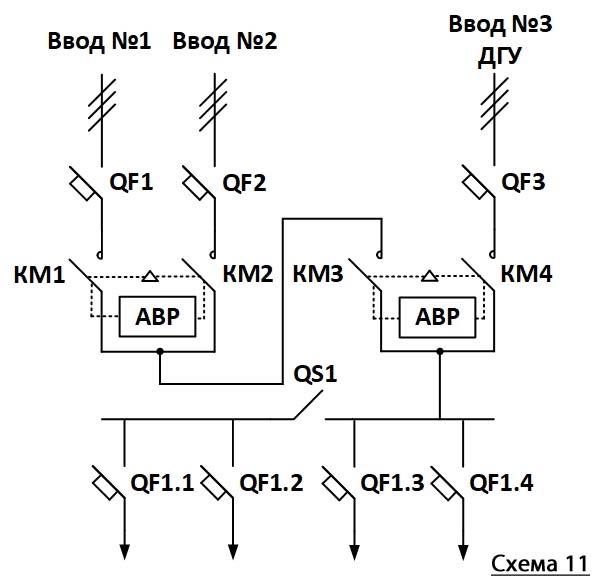 схема запуска генератора авр