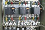 В АВР на контакторах два ввода и ДГУ применены LC1 Schnеider Electric.