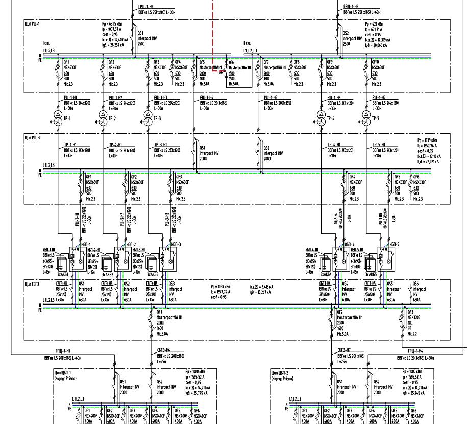схема электроснабжения,